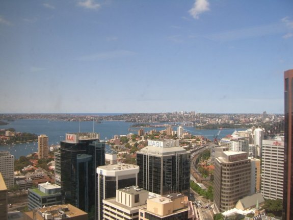 sydney harbour from the red hat sydney office in north sydney